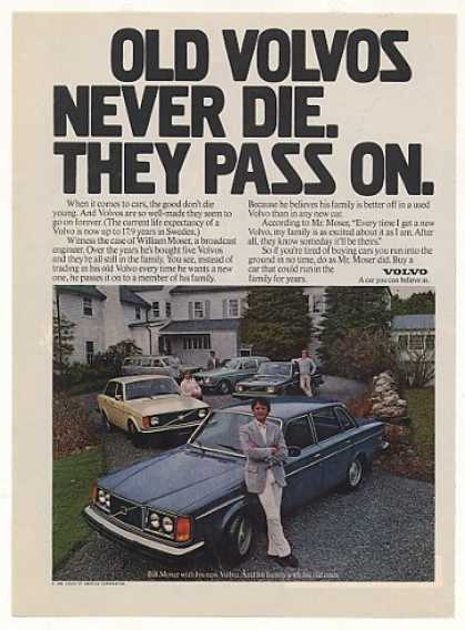 Volvo Bill Moser Old Volvos Never Die Pass On (1980)