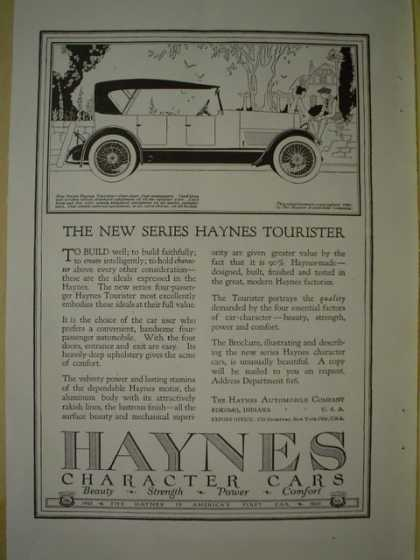Haynes Character Cars Tourister AND Paige Detroit Motor Car Co (1920)
