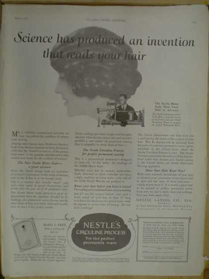 Nestle's Circuline Process. An invention that reads your hair (1926)