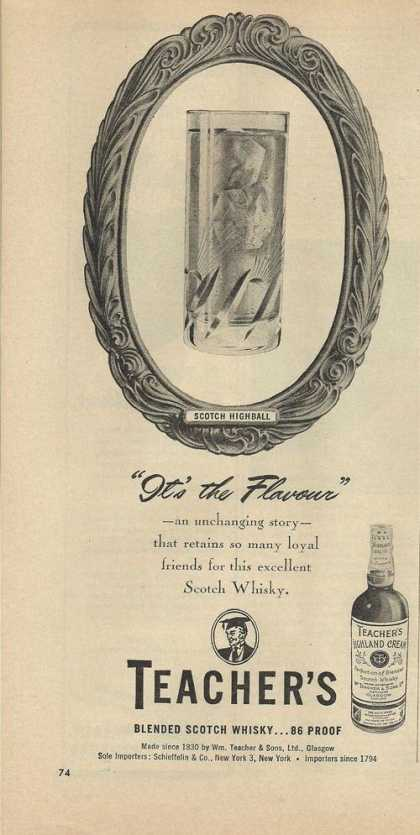 First Its the Flavour Teachers Whisky (1948)