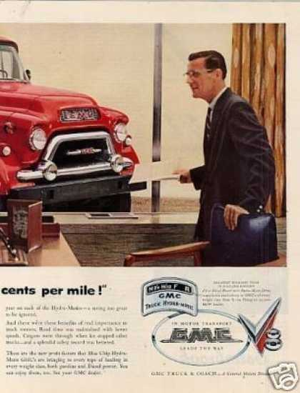 Gmc Truck 2 Page Ad Model 650 (1955)