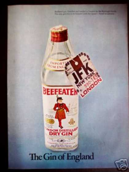 Beefeater London Dry Gin Jfk Tag Photo (1971)