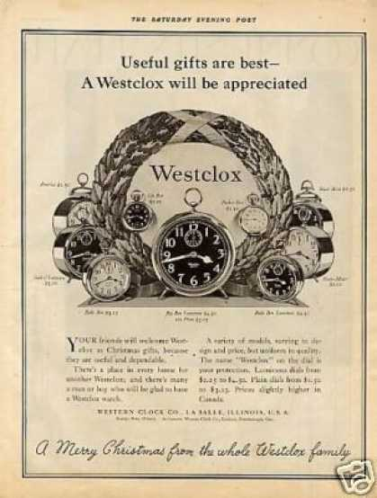 Westclox Clocks (1926)