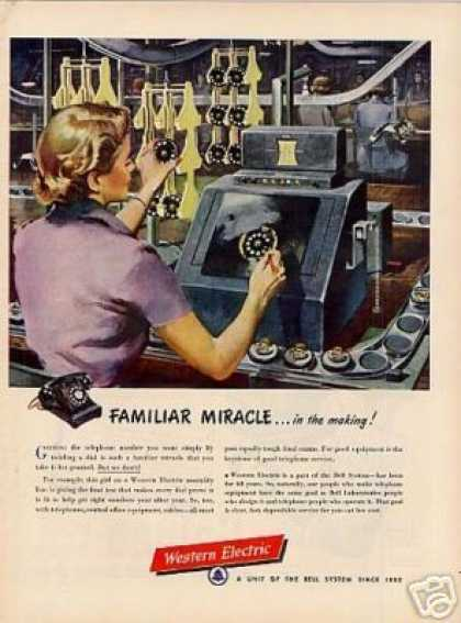 "Western Electric Ad ""Familiar Miracle... (1950)"