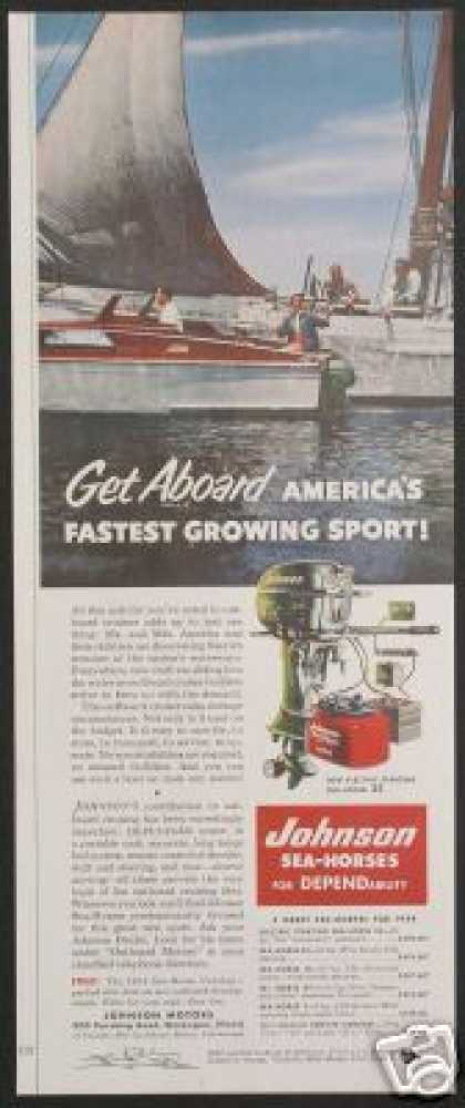Johnson Sea Horse Outboard Boat Motor (1954)