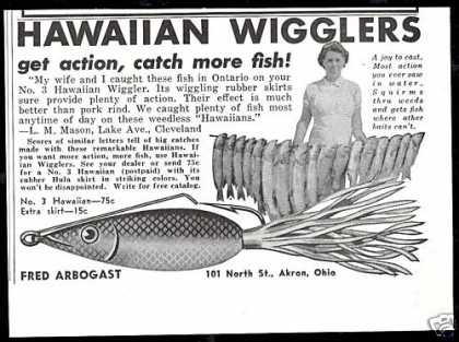 No 3 Hawaiian Wiggler Fishing Lure Vintage (1940)