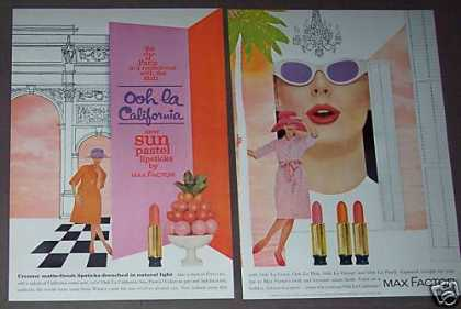 California Colors Lipstick Max Factor (1962)