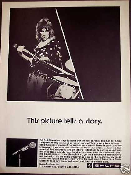 Rod Stewart Photo Shure Microphone (1973)