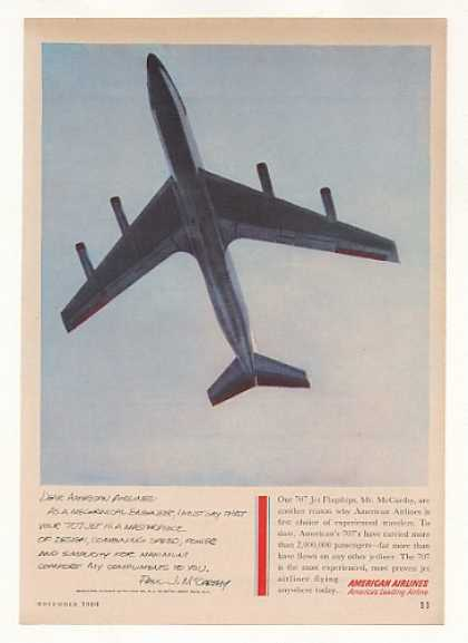 American Airlines 707 Jet Paul McCarthy Letter (1960)
