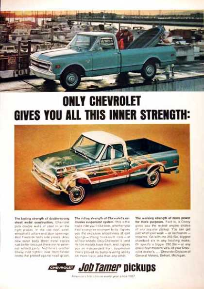 Chevrolet Fleetside Pickup (3 Ads) (1968)