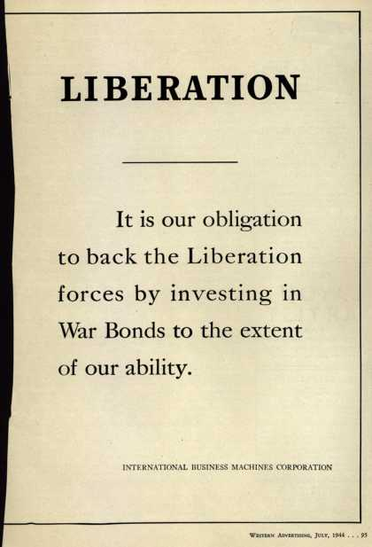 International Business Machines Corp.'s War Bonds – Liberation (1944)