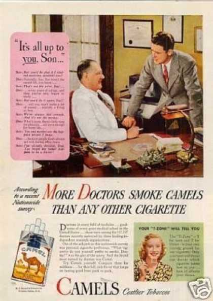 "Camel Cigarettes Ad ""It's All Up To You... (1946)"