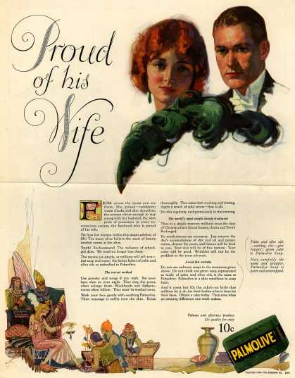 Palmolive Company's Palmolive Soap – Proud of his Wife (1924)