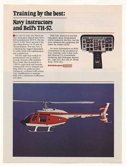 US Navy Bell TH-57 Helicopter Trainer Photo (1982)