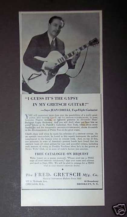 Guitarist Jean Cibelli Gretsch Guitars (1939)