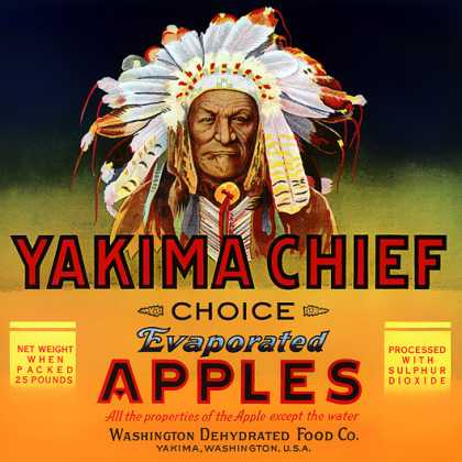 Yakima Chief Evaporated Apples, c. 			s (1940)