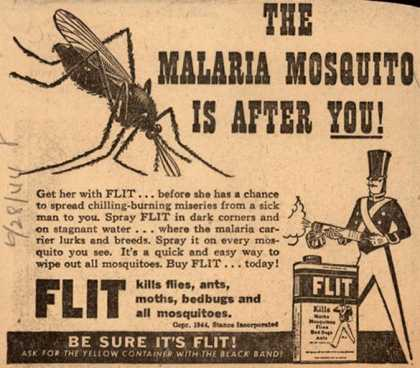 Stanco Incorporated's Flit – The Malaria Mosquito is After You (1944)