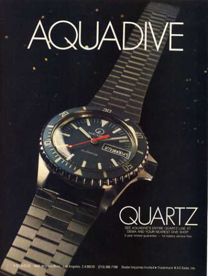 Aquadive Quartz Dive Watch T (1979)