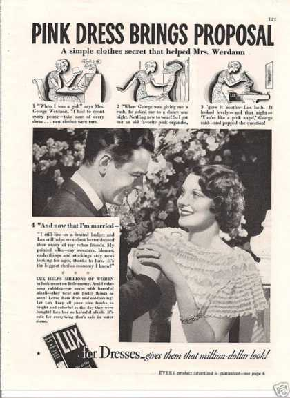 Lux Soap for Dresses (1935)
