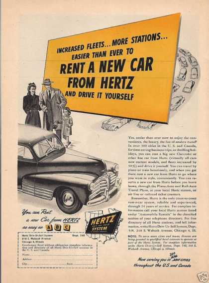 Rent a New Car From Hertz (1948)