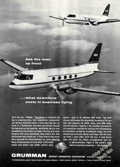 "Grumman Gulfstream ""World's Standard"" Photo (1964)"