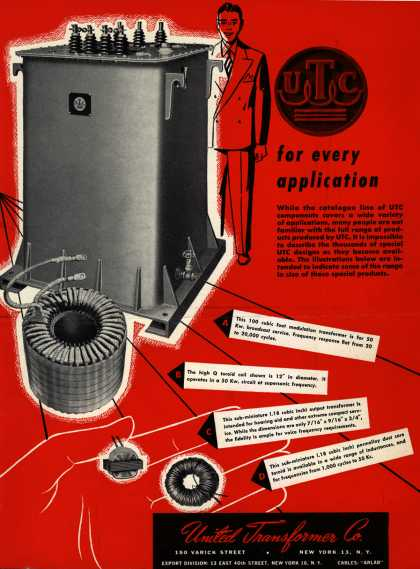 United Transformer Company's Electronics – UTC For Every Application (1951)