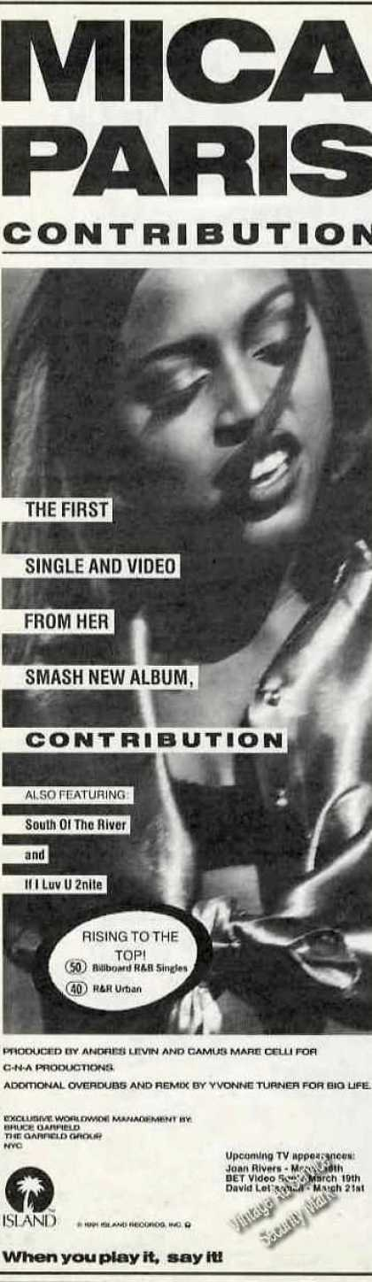 "Mica Paris Photo ""Contribution"" Album Promo (1991)"