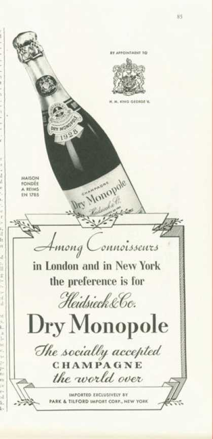 Dry Monopole 1928 Champagne (1938)