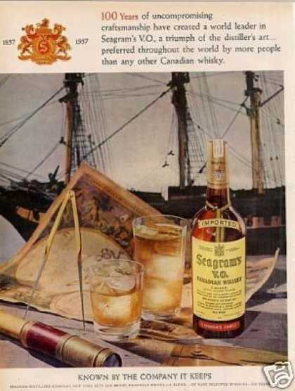 Seagram's Vo Canadian Whiskey (1957)