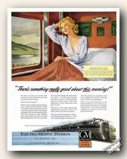 Gm Diesel Power Locomotives Antique Train (1947)