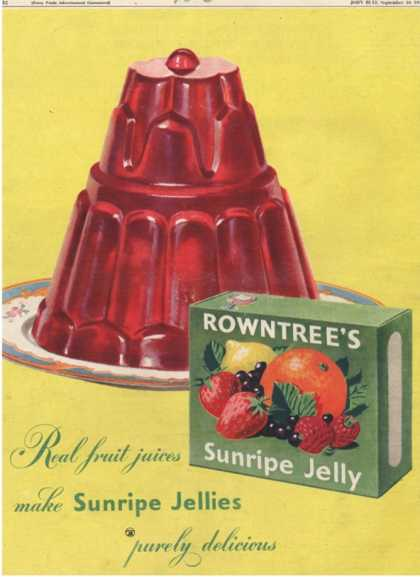Rowntree's, Jelly, Desserts, UK (1950)