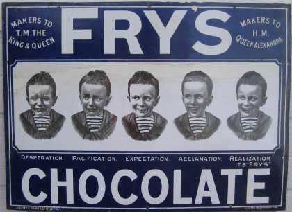 Fry's Five Boys Chocolate Sign