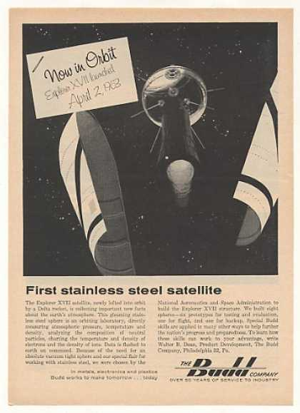 Budd Co Stainless Steel Explorer XVII Satellite (1963)