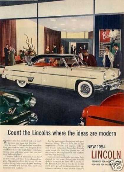 "Lincoln Car Ad ""Count the Lincolns... (1954)"