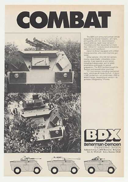 '80 Beherman-Demoen BDX Armored Combat Vehicle Photo (1980)