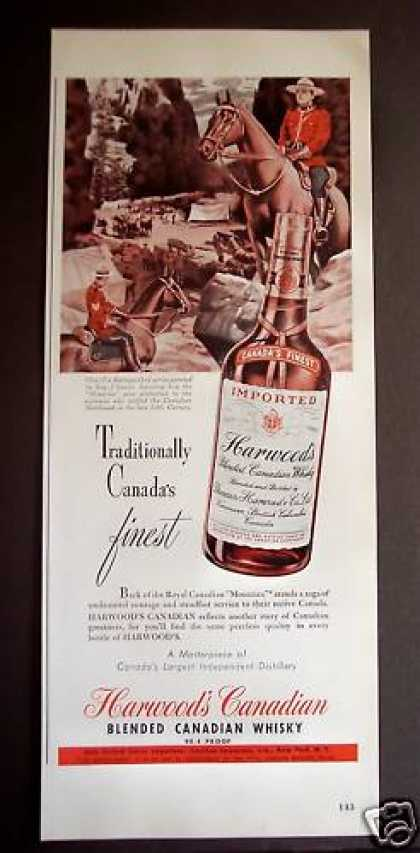 Art By Ray Johnson Harwood's Canadian Whisky (1949)