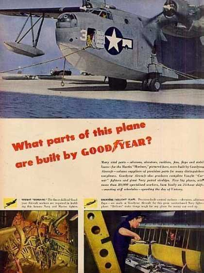 Goodyear Aircraft Ad Centerfold (1944)