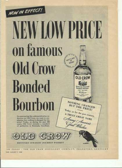 Old Crow Bonded Bourbon (1950)
