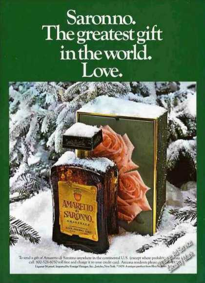 Amaretto Di Saronno Greatest Gift In the World (1979)
