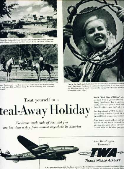 Trans World Airline Twa Steal Away Holiday C (1950)