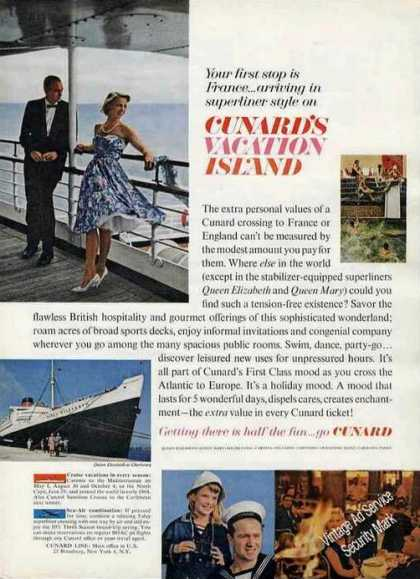 Cunard's Vacation Island Queen Elizabeth Photo (1963)