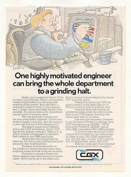 CGX Computer Workstation Engineer Gahan Wilson (1983)
