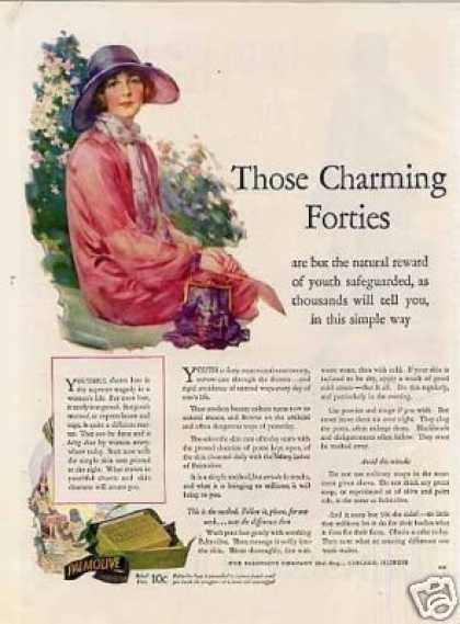 "Palmolive Soap Color Ad ""Those Charming Forties... (1926)"