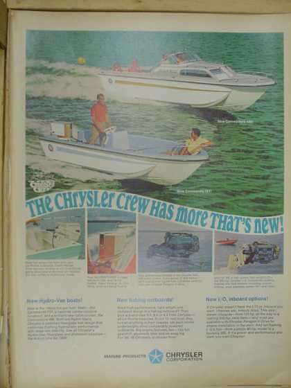 Chrysler Corp Boats and outboards. (1968)