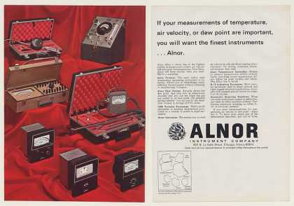 Alnor Pyrocon Dew Pointer Pyrometer Instruments (1968)