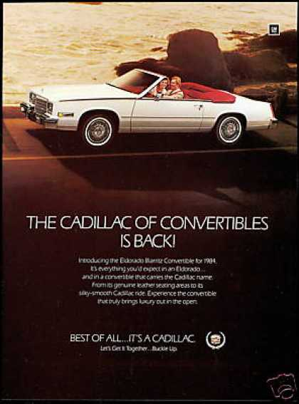 Cadillac Biarritz Convertible Vintage Car Photo (1984)