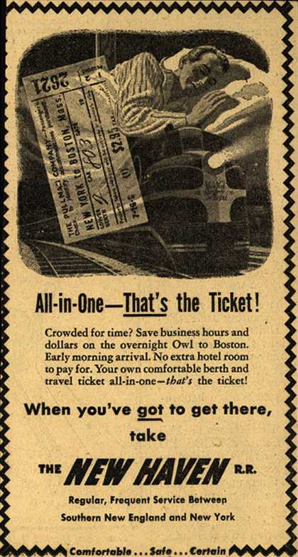 New Haven Railroad – All-in-One – That's the Ticket (1947)