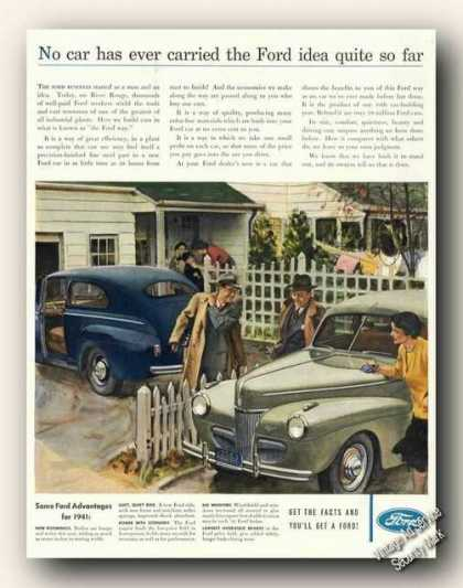 Ford Nice Automobile Art Promo Cars (1941)