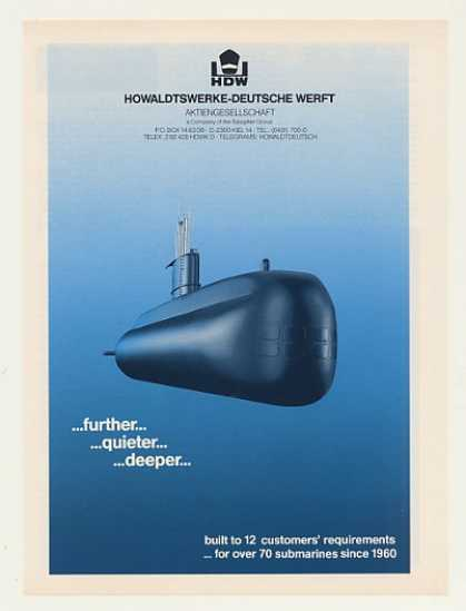 HDW Submarine Further Quieter Deeper (1986)
