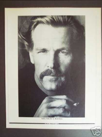 Nick Nolte Original B&w Promo Photo By Herb Ritts (1983)